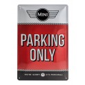 Plaque 3D métal 20x30 cm Mini : Parking Only