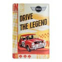 Plaque 3D métal 20x30 cm Mini de course : Drive the legend