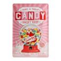 Plaque métal 3D 20x30 cm sous licence : Candy