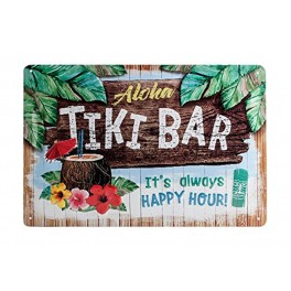 Plaque métal 3D 20x30 cm sous licence: Aloha tiki bar