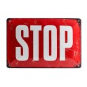 Plaque métal 20x30 cm sous licence: STOP