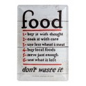 Plaque métal 20x30 cm officielle : Food don't waste it