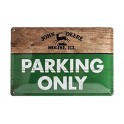 Plaque 3D métal 20x30 cm John Deere : Parking Only