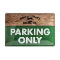 Plaque 3D métal 20x30 cm John Deere : Parking Only