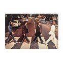 Plaque métal 3D 20x30 cm : Pochette Abbey Road The Beatles