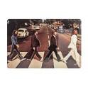 Plaque métal 3D 20x30 cm : Pochette Abbey Road The Beatles