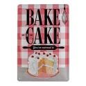 Plaque métal 3D 20x30 cm sous licence: Bake Cake