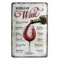 Plaque 3D métal 20x30 cm : World of wine