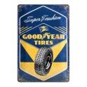 Plaque métal 20x30 cm officielle: GoodYear Tires
