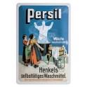 Plaque 3D métal 20x30 cm Persil : machine à laver ancienne , linge et ménagères