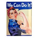 Plaque métal : We can do it 30 x 40 cm