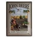 Plaque 3D métal 30x40 cm : John Deere quality farm equipment