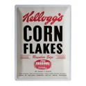 Plaque métal officielle : Kellogg's Corn Flakes 30x40 cm