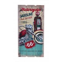 Déco murale vintage bois Moto : Speed King, California Motorcycles, H 60 cm