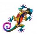 Déco murale métal : Gecko, Collection Versicolor, Modèle 1, H 15 cm