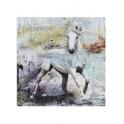 Plaque métal : Cheval au galop, Rétro & Shabby Chic, H 30 cm