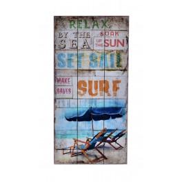 Déco murale bois exotique perroquet :Tropical Paradise , H 60 cm