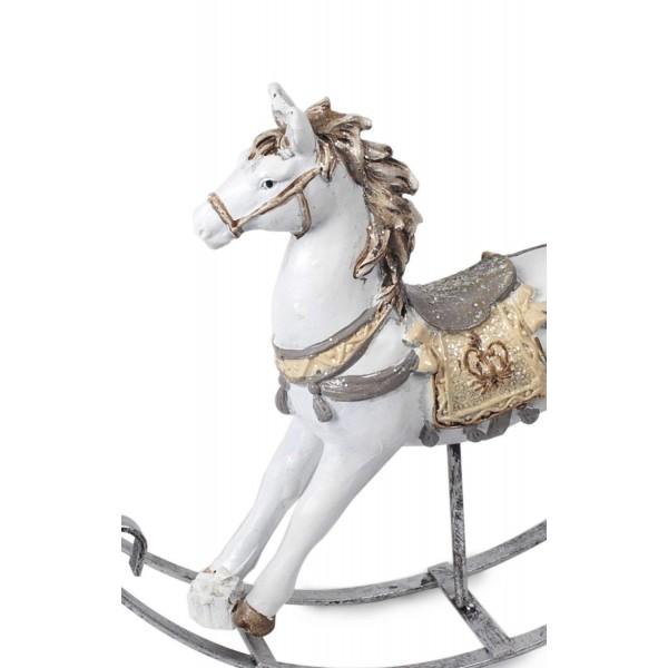 Statuette cheval : Petit cheval à bascule