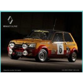 3 finitions 30 x 20 cm La Renault 5 Turbo Plaque M/étal bomb/ée