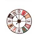 Horloge ronde Vintage en métal, Mod DISTRICT 2, Diam 60 cm