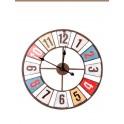 Horloge ronde Vintage en métal, Mod DISTRICT 1, Diam 60 cm