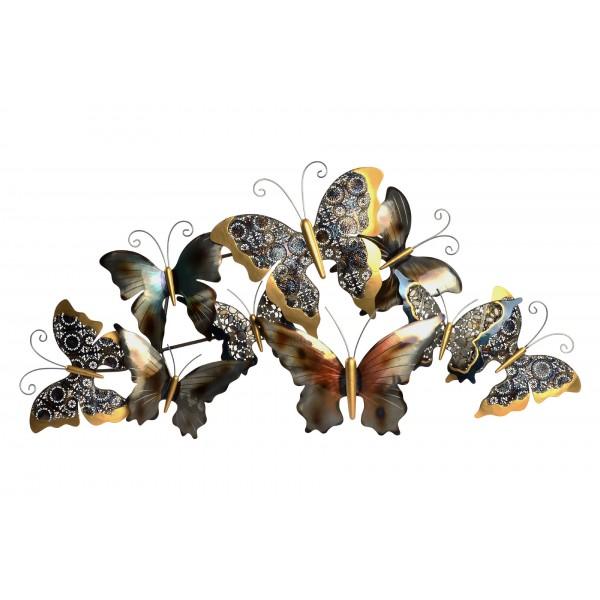 d coration murale m tal l 39 envol de papillons design l. Black Bedroom Furniture Sets. Home Design Ideas