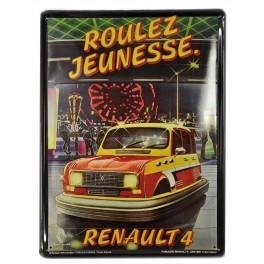 Plaque Métal bombée : La Renault 5 Alpine, 30 x 20 cm