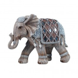 Figurine Elephant Collection Bhopal, Taille 4, H 9 cm