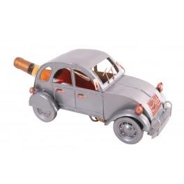 Porte-bouteille Retro Cars : La 2 CV Grise, Limited, L 34 cm