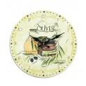 Horloge MDF thème Huile d'olive extra, Diam 34 cm