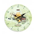 Horloge MDF thème Huile d'olive, Diam 34 cm