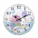 Horloge murale Déjeuner champêtre en Provence, Diam 34 cm