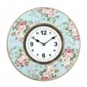 Horloge Florale Shabby Chic, Motifs Roses, Mod 2, Diam 34 cm