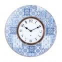 Horloge rétro : Modèle Azulejos, Mod 1, Diam 34 cm
