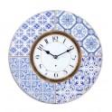 Horloge rétro : Modèle Azulejos, Mod 2, Diam 34 cm