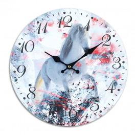 Horloge rétro Coq MDF, Mod 1, Diamètre 34 cm