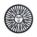 Décoration murale : Soleil, Noir, Diam 60 cm