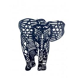 Décoration mur : Silhouette Elephant XL Noir Ethnik Wall, H 60 cm