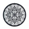 Décoration murale métal : Mandala Noir, Diam 60 cm