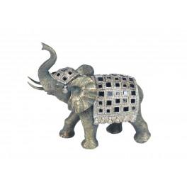 Statuette Eléphant, Taille 3, Mod Pendjab, L 20 cm