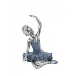 Statuette Danseuse : Petite Ballerine, Mod 2, Bleu pastel, H 18 cm