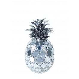 Fruit Déco : Ananas Gris, Style Industriel 2, H 25 cm