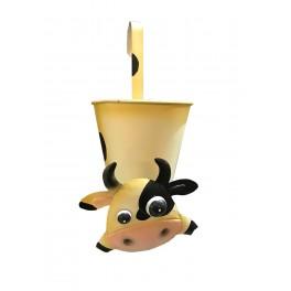 Le pot ou range-tout Vache à suspendre, H 38 cm