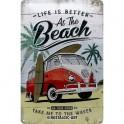 Plaque 3D métal Combi VW : Life is Better at The Beach, 30 x 20