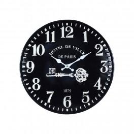 Horloge rétro en métal, Mod Hotel de Ville Paris, Diam 40 cm