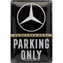 Plaque 3D métal 20x30 cm Mini : Parking Only