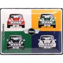 Plaque 3D Métal Mini Cooper, 4 Couleurs, 40 x 30 cm