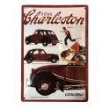 Plaque Métal bombée Relief : Citroën 2 CV 6 Charleston, 30 x 20 cm
