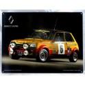 Plaque Métal bombée : La Renault 5 Alpine, 40 x 30 cm