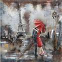 Tableau sur Bois & Métal 3D : Week-end à Paris, H 100 cm